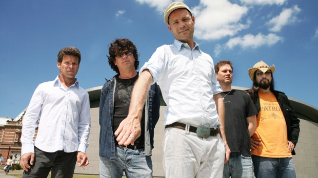 Members of The Tragically Hip (left to right) Gord Sinclair, Paul Langlois, Gord Downie, Johnny Fay and Rob Baker are shown in a recent handout photo.