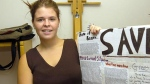 Kayla Mueller is shown after speaking to a group in Prescott, Ariz., May 30, 2013. (The Daily Courier, Matt Hinshaw)