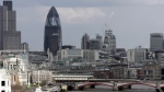 A view from Nelson's Column shows the Gherkin building over central London's skyline is pictured on Monday April 10, 2006. (AP / Kirsty Wigglesworth, file)