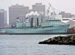 HMCS Preserver, a Royal Canadian Navy supply ship, is docked in Halifax on Wednesday, Feb. 5, 2014. (Andrew Vaughan/THE CANADIAN PRESS)
