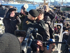 first kiss HMCS winnipeg