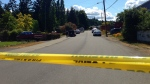 Police have cordoned off Caswell Street in Chemainus after a 'serious incident' that sent two people to hospital, one in serious condition. May 20, 2016. (CTV Vancouver Island)