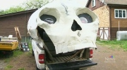 B.C. artist's skull camper turning heads