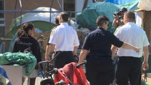 Campers had until May 25 to comply with a fire safety order or face more court action by the provincial government. May 25, 2016. (CTV Vancouver Island)