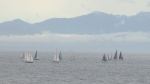The boats will cross the finish line throughout the day Sunday. May 28, 2016 (CTV Vancouver Island)