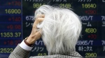A man looks at an electronic stock board of a securities firm in Tokyo on Monday, May 30, 2016. (AP / Koji Sasahara)
