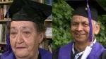 Virginia Knowlton, 74, and Harvey Andrew, 62, both graduated with their high school diplomas last week. (CTV News). June 25, 2016.