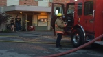 According to officials, the fire originated in the kitchen area of a second floor apartment unit. June 26, 2016 (CTV Vancouver Island)
