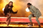 """Beyonce, left, and Kendrick Lamar perform """"Freedom"""" at the BET Awards at the Microsoft Theater on Sunday, June 26, 2016, in Los Angeles. (Photo by Matt Sayles/Invision/AP)"""