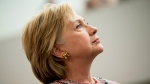 Democratic presidential candidate Hillary Clinton visits Galvanize, a work space for technology companies, in Denver, Tuesday, June 28, 2016. (AP / Andrew Harnik)