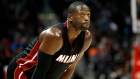 In this Oct. 18, 2015, file photo, Miami Heat guard Dwyane Wade (3) looks up during the first half of a preseason NBA basketball game against the Atlanta Hawks in Atlanta. (AP Photo / Todd Kirkland, File)