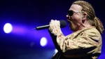 Axl Rose, lead singer of Guns N' Roses, performs in this undated photo. ( AFP PHOTO/Bru Garcia)