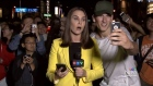 Vancouver police have launched an investigation after a stranger ran into a CTV Vancouver live broadcast and hurled vulgar obscenities at reporter Sarah MacDonald.