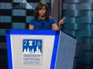 Michelle Obama speaks during the first night of the Democratic National Convention at the Wells Fargo Building on Monday, July 25, 2016, in Philadelphia, Pa. (Benjamin Hager / Las Vegas Review-Journal via AP)