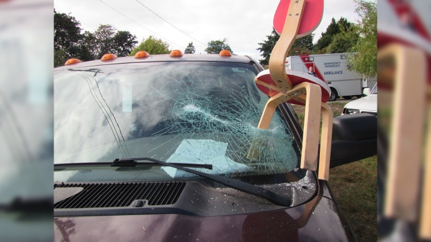 Investigators are trying to determine why a dispute between a landlord and tenant escalated to a wild brawl in Sooke on Friday, July 22, 2016. (RCMP Handout)