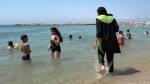 Nissrine Samali, 20, wearing a burkini in Marseille, France, on Aug.4 2016. (AP)