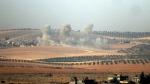 Smokes billows near the Turkey-Syria border on Wednesday, Aug. 24, 2016. (DHA via AP)