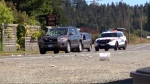 A man was rushed to hospital with significant injuries after he was struck by a car crossing the street in Courtenay. Aug. 24, 2016. (CTV Vancouver Island)