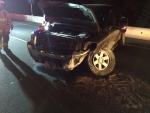The single-vehicle crash happened just after 11 p.m. on the Trans-Canada Highway at Whittaker Road.