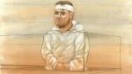 Andrei Sisu appears in court on Sept. 23, 2016. (John Mantha)