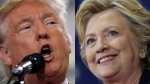 Trump, Clinton on campaign trail