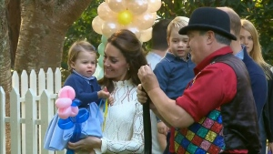 The party with the royals is being held for the children and families of military service members who have loved ones on military deployment.