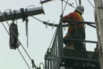 More than 3,000 homes lost power after a barge hauling a crane snagged the transmission lines on Tuesday.