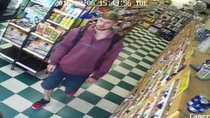 Sooke RCMP are looking for a man who stole a substantial amount of sexual performance enhancement pills from a natural foods store. Sept. 6, 2016. (RCMP Handout)