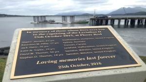 A ceremony was held on Tuesday afternoon where a plaque was unveiled honouring the memories of those who died. Oct. 25, 2016 (CTV Vancouver Island)