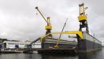A floating dry dock is seen at the Irving Shipyard in Halifax on Tuesday, Sept. 24, 2013. THE CANADIAN PRESS/Andrew Vaughan