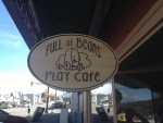 The owner of Full of Beans Play Café went to open the shop and noticed the sign above the door had been stolen.