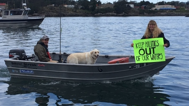 angler protest